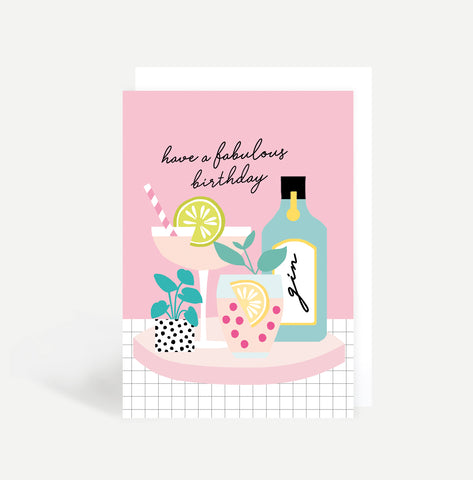 Birthday Cocktails Card