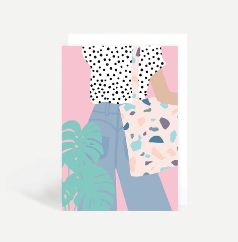 Female Tote Greetings Card