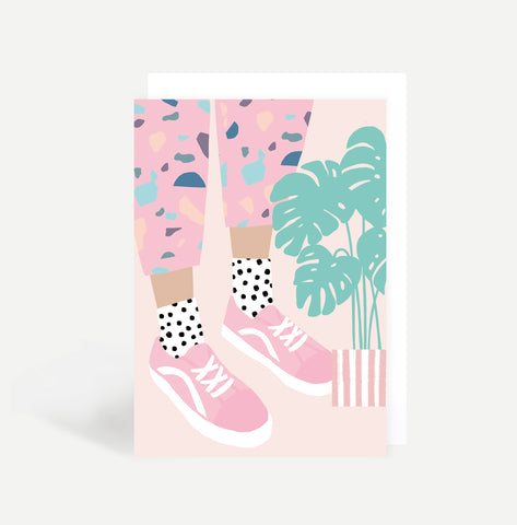 Pattern Trousers Greetings Card