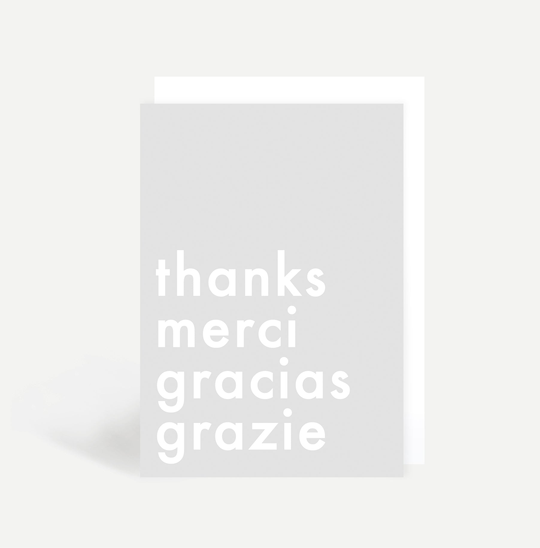 Thanks Merci Gracias Grazie Card