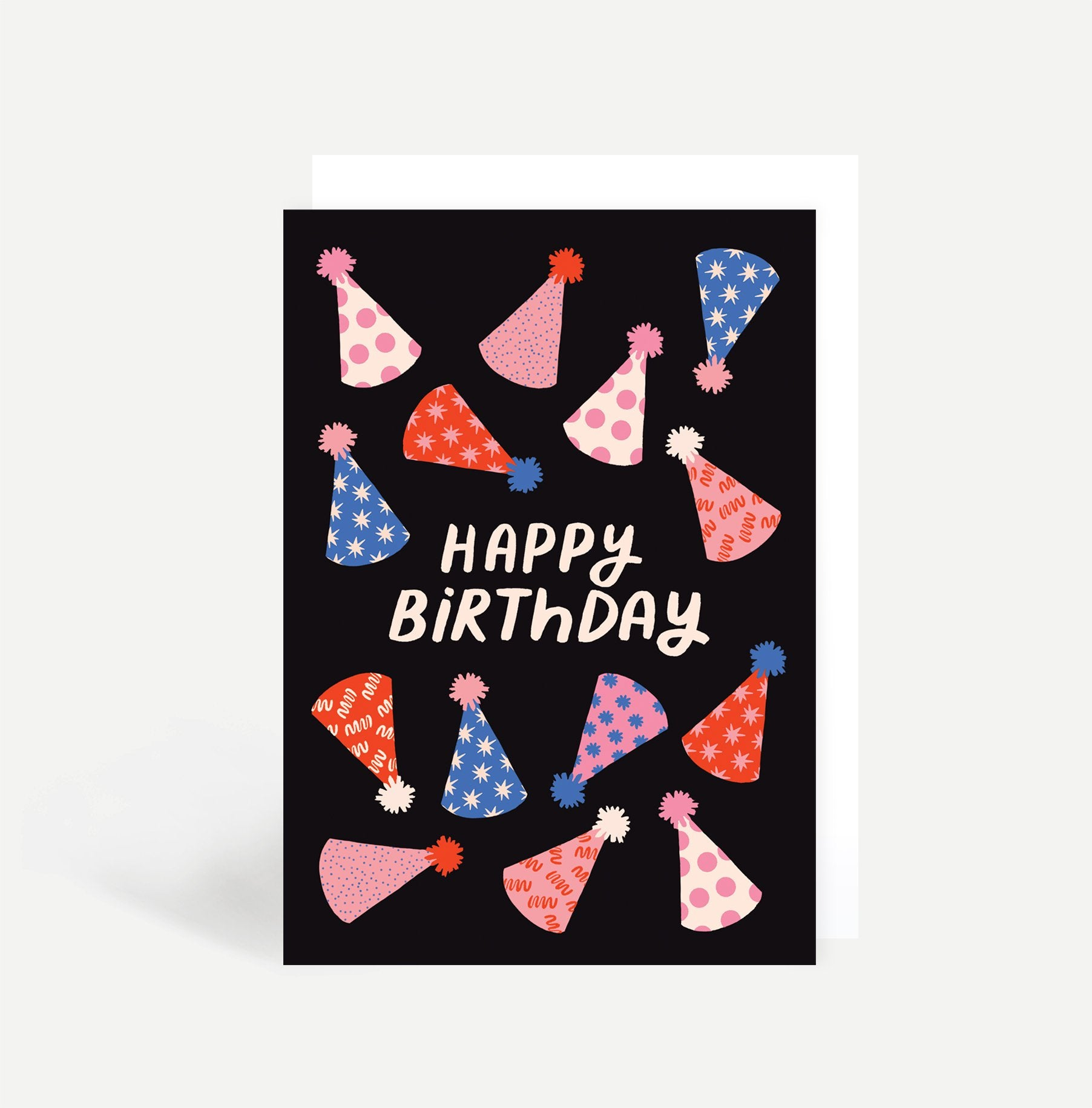 Party Hats Greetings Card