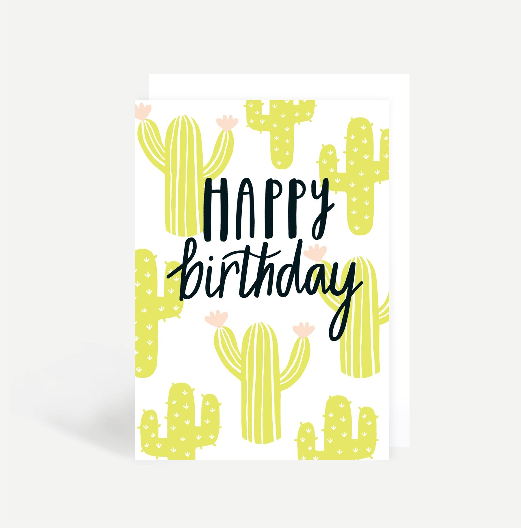Cactus Happy Birthday Card