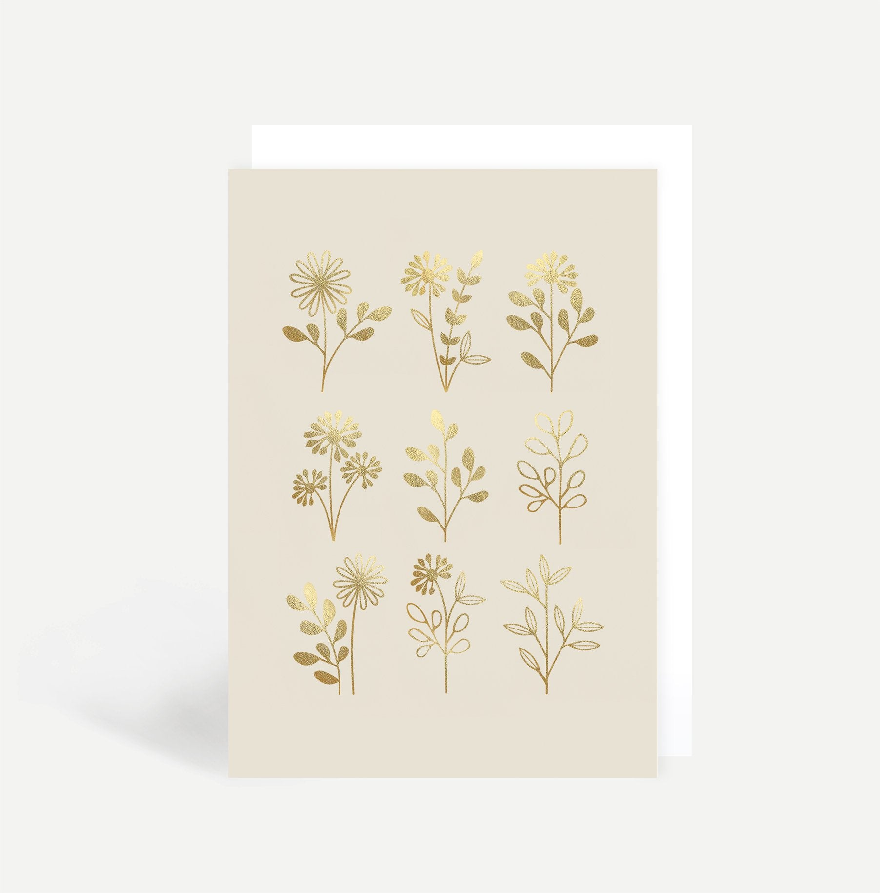 Illustrated Flowers Greetings Card