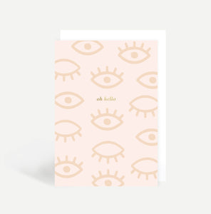 Oh Hello Eyes Greetings Card