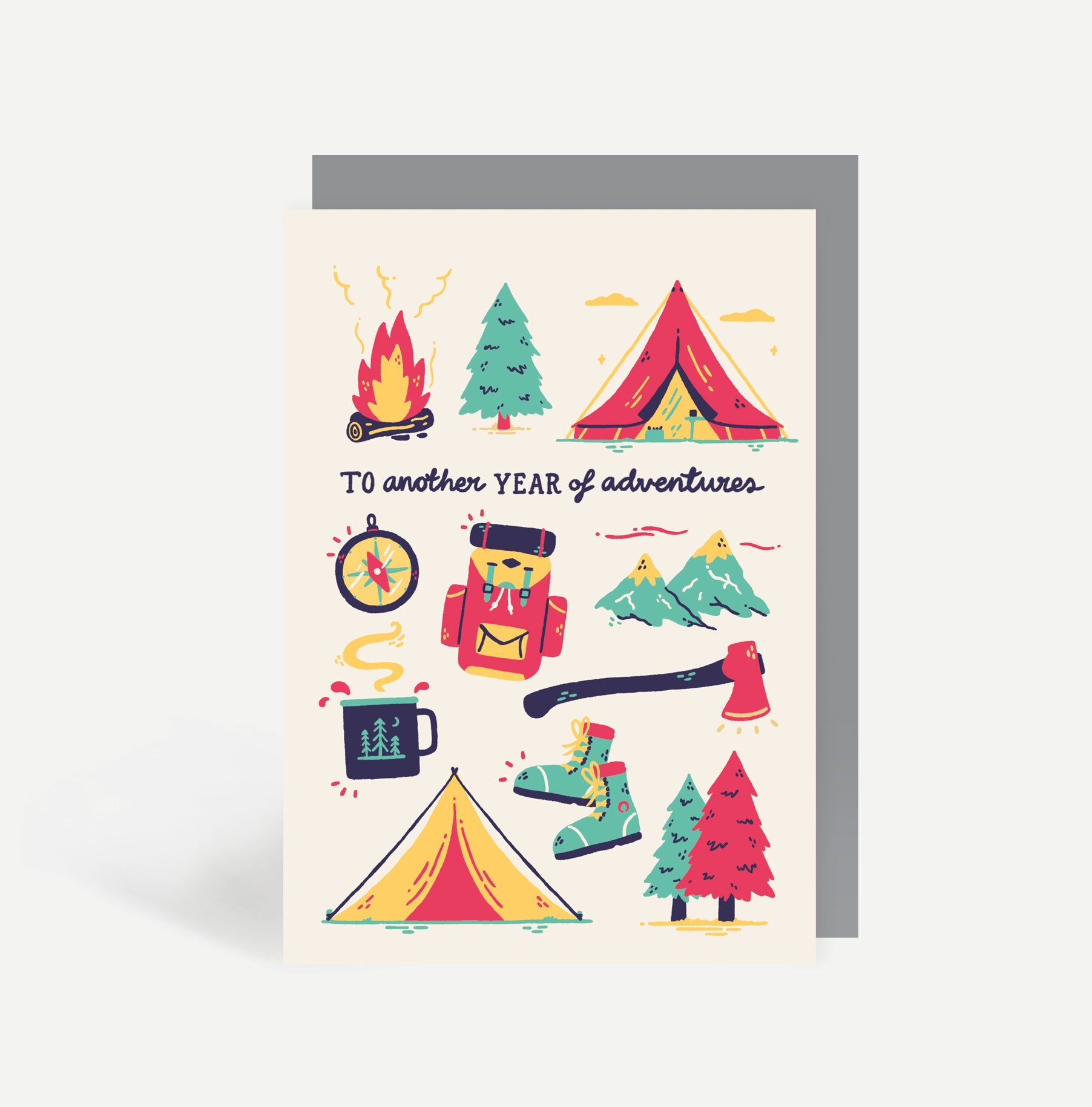 Camping Adventures Greetings Card