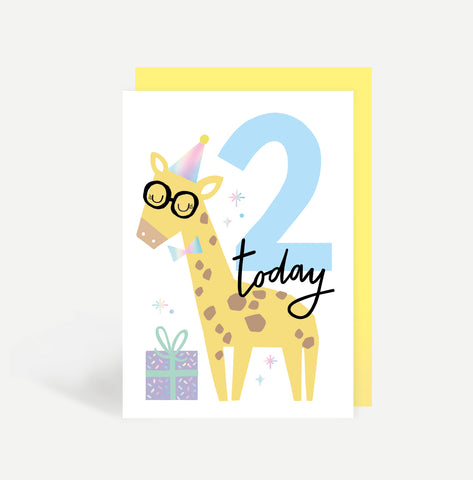 Two Today Birthday Card