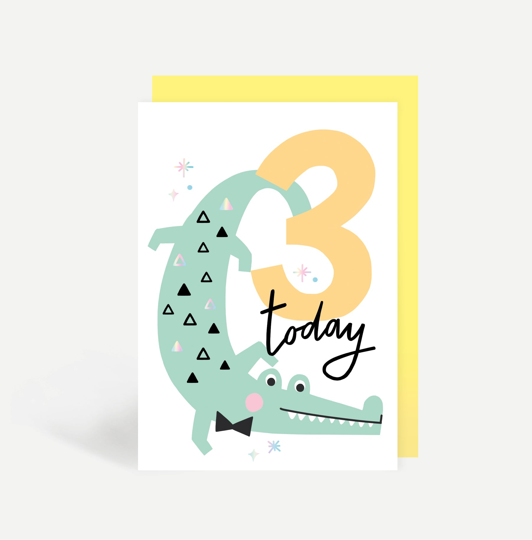 Three Today Birthday Card