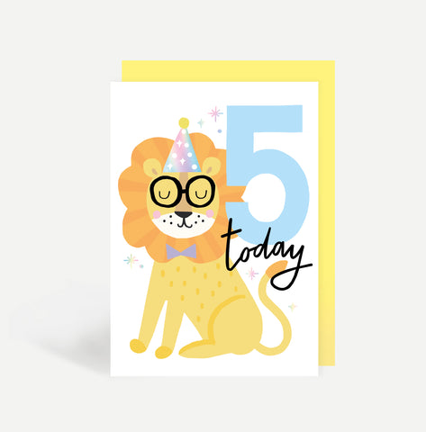 Five Today Birthday Card