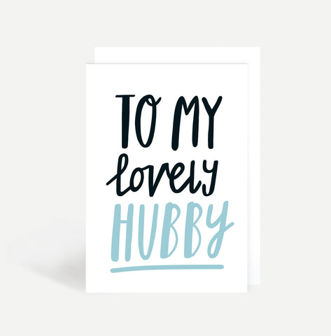 To My Lovely Hubby Card