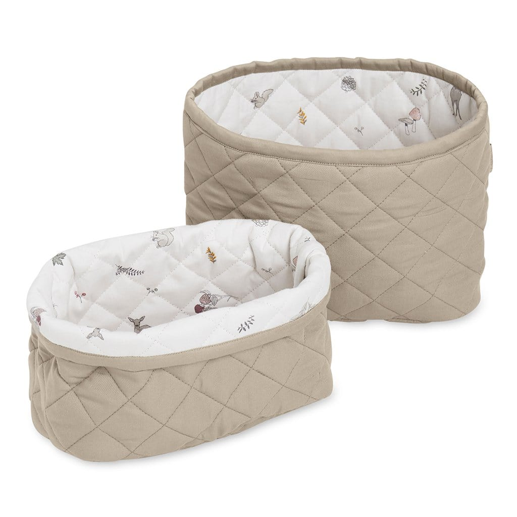 Quilted Storage Basket - Set of Two - OCS Hazel