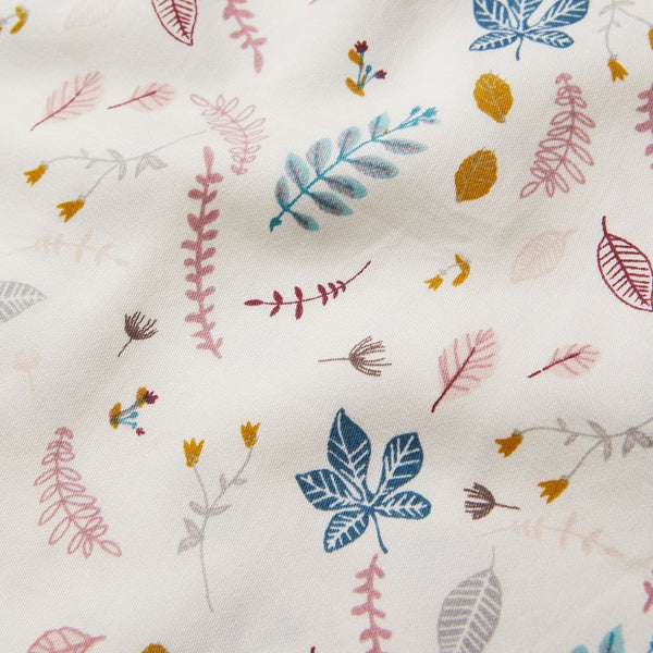 Bedding, Single, 140x200cm - GOTS Pressed Leaves Rose
