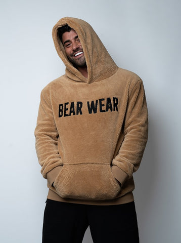 Almond Teddy Bear Wear Unisex Luxury Hoodie