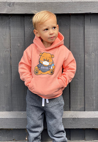 Peach Kids Bear Wear & Chill Hoodie