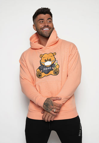 Peach Bear Wear & Chill Hoodie