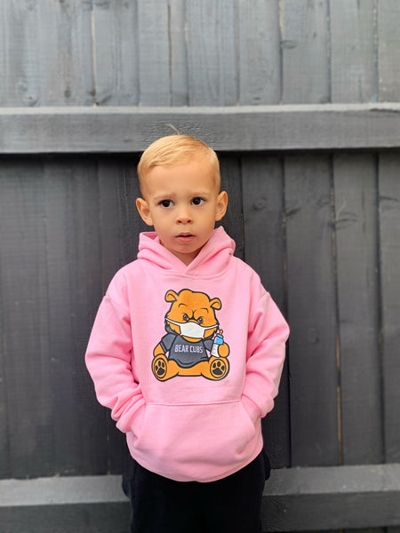 Pink Bear Wear & Chill Kids Hoodie