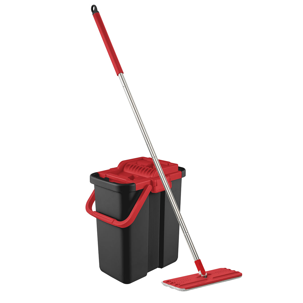 Topmop Stainless Steel EasyWring Microfiber Mop and Bucket System