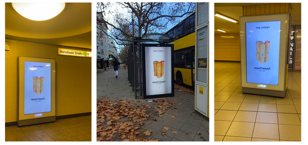 Billboards all over Berlin: MAATÏ MAATÏ x THE LATEST STORE