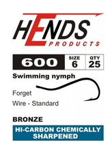 Hends - 600 Living Nymph Hooks Barbed (Vladi Worm) - New 2020