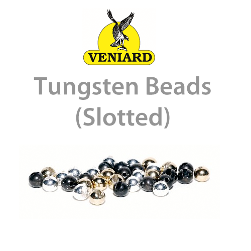 Veniard Gold Slotted Tungsten Beads