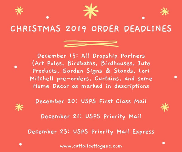 Christmas 2019 Shipping Deadlines