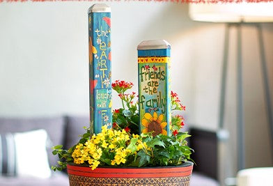 Mini Art Poles with Big Messages