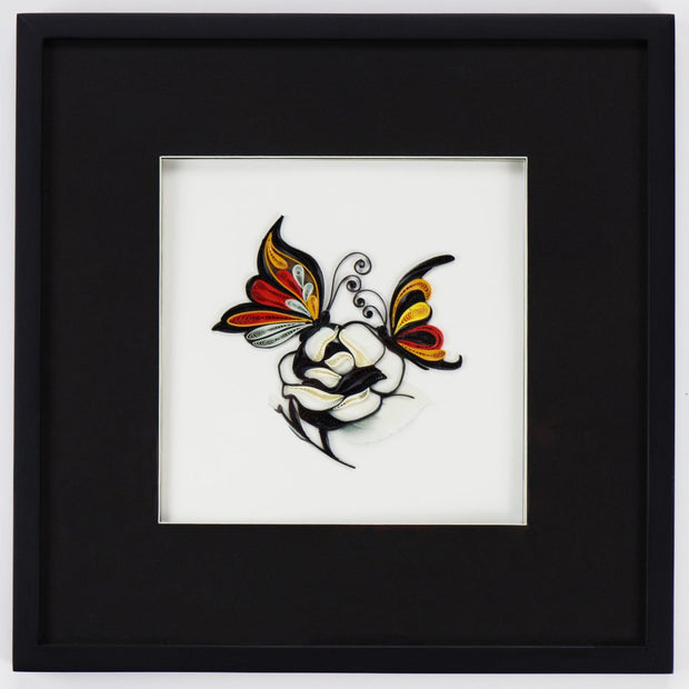 Shadowbox Quilling Card Frame, Black