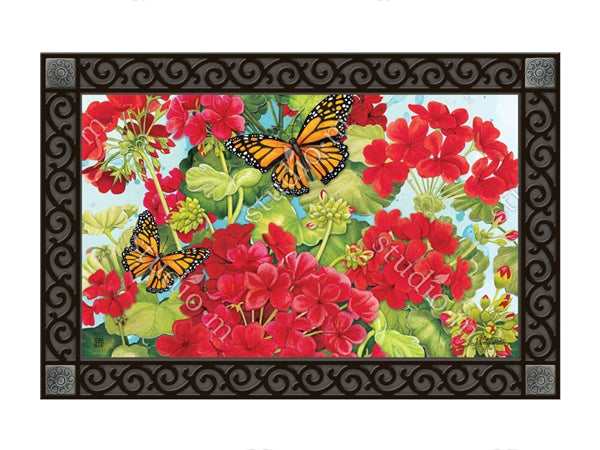 Red Geraniums MatMate Insert