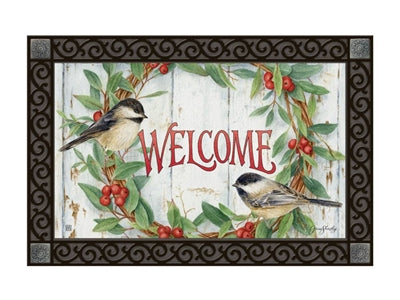 Chickadee Wreath MatMate Insert