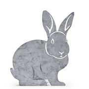 Tin Cutout Bunny with Planter