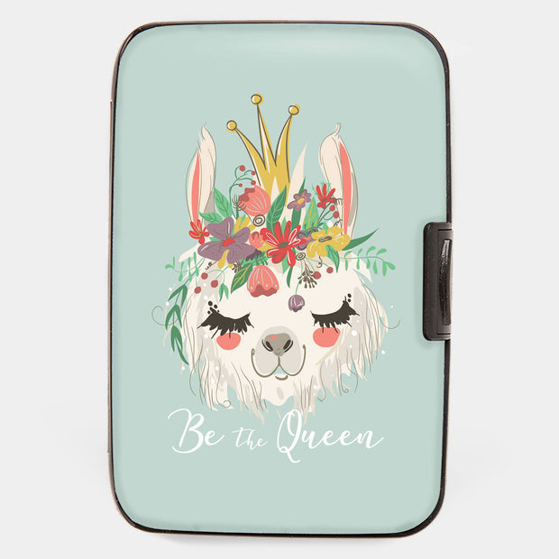 Llama Be A Queen Armored Wallet