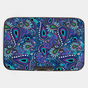 Paisley Blue Armored Wallet