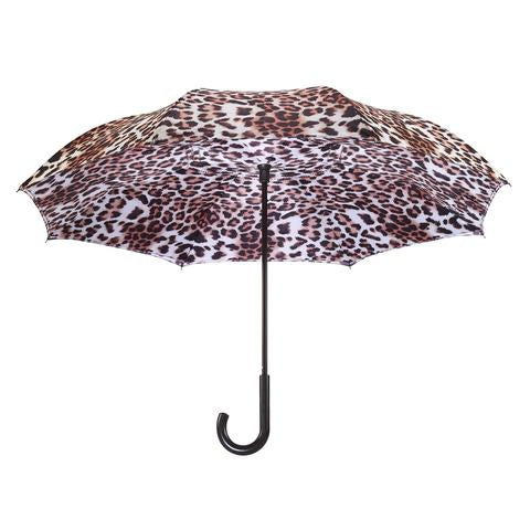 Leopard Skin Reverse Close Umbrella