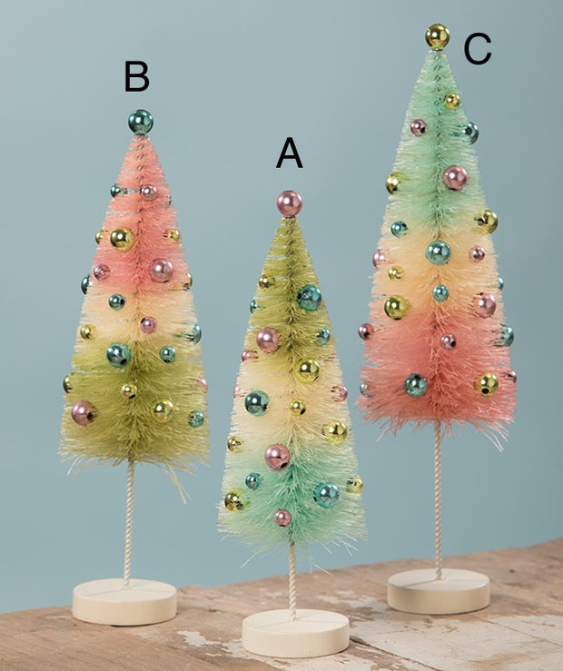 Pastel Confetti Bottle Brush Trees