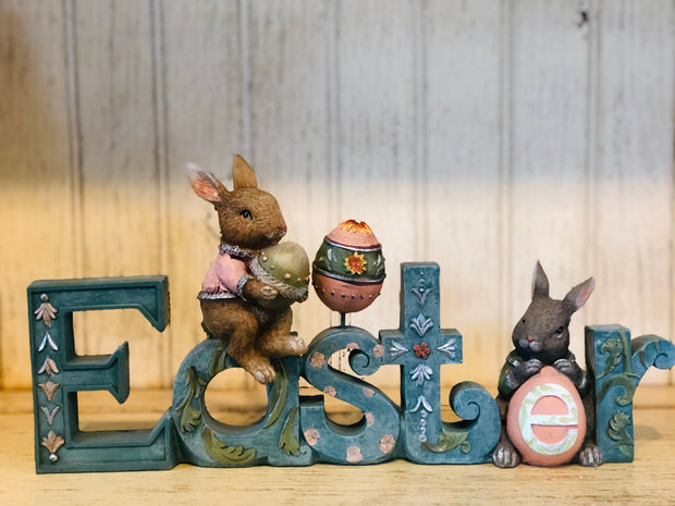 Easter Cutout Shelf Sitter with Bunnies