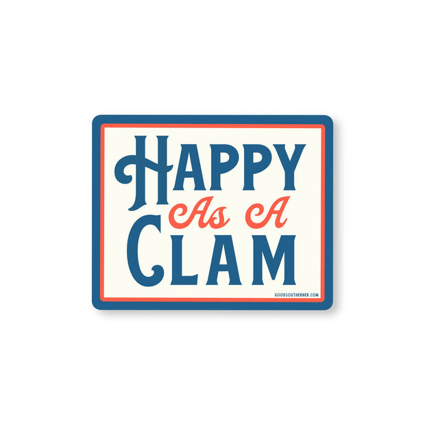 Happy As A Clam Sticker
