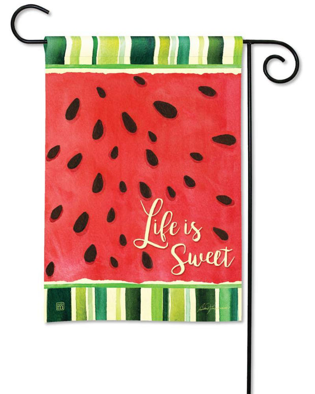 Life is Sweet Garden Flag