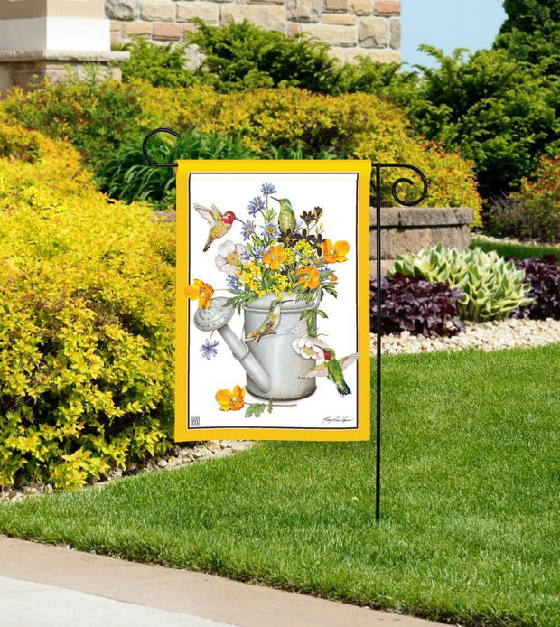 Hummingbird Feast Garden Flag