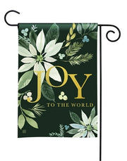 Poinsettia Joy Garden Flag