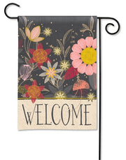 Floral Welcome Garden Flag