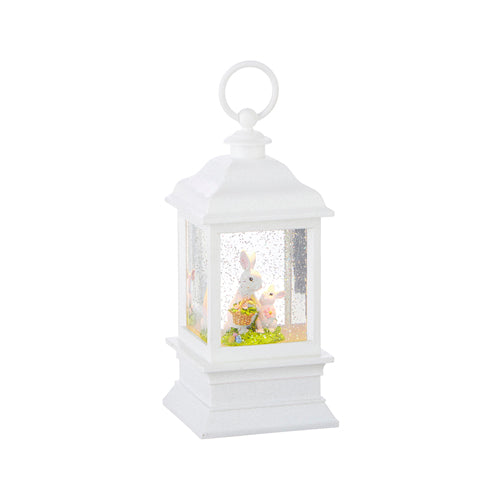 Mommy with Baby Bunny Lighted Water Lantern