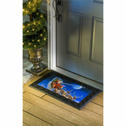 Evergreen Enterprises Flying Santa Mat with LED Lights & Sound