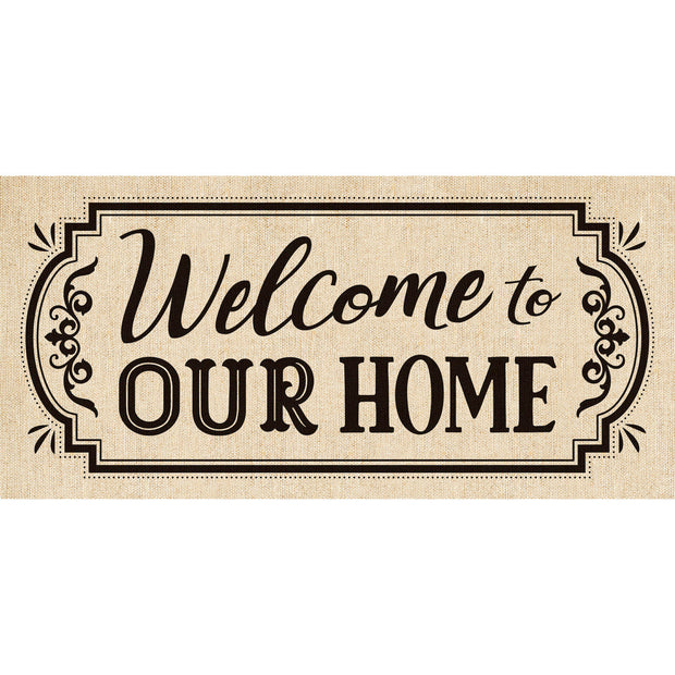 Welcome to our Home Burlap Sassafras Mat Insert