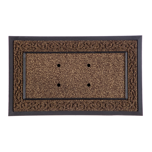 Evergreen Enterprises Sassafras Brown Scroll Decorative Mat Tray