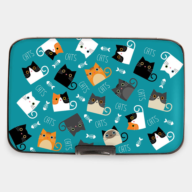 Cats with Fish Armored Wallet
