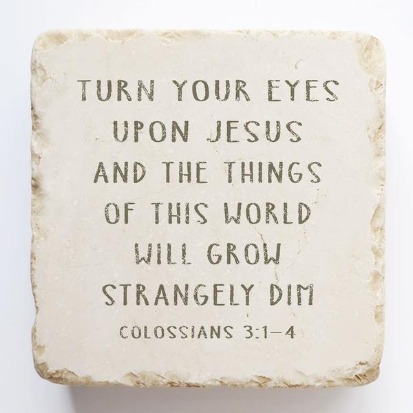 Colossians 3:1-4 Scripture Stone