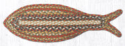 Capitol Earth Rugs Fish Shaped Braided Jute Rug, Honey Vanilla Ginger