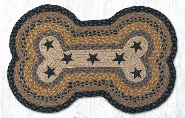 Capitol Earth Imports Dog Bone Shaped Pet Rug, Black Gold