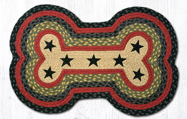 Capitol Earth Imports Dog Bone Shaped Pet Rug Black, Red