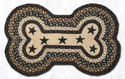 Capitol Earth Imports Dog Bone Shaped Pet Rug, Black Brown
