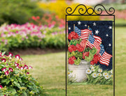 Studio-M Geraniums with Flags Garden Flag